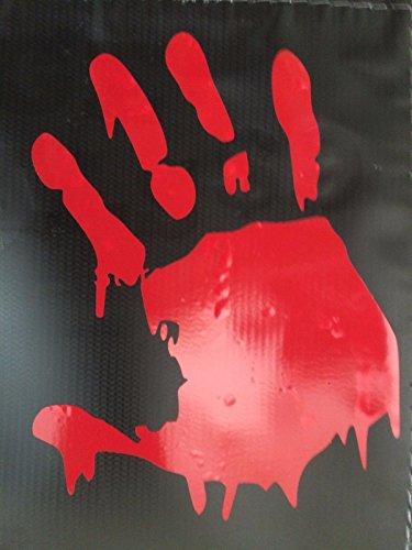 [Red] WALKING DEAD BLOODY HAND ZOMBIE HALLOWEEN DECAL STICKER VINYL WALL LAPTOP CAR 5