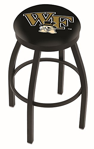 "Wake Forest Demon Deacons HBS Black Swivel Bar Stool with Cushion (25"")"