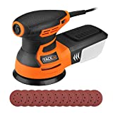 5'' Orbit Sander,6 Variable Speed 3.0A(350W)/13000RPM Sander with 12Pcs Sandpapers, High Performance Dust Collection System, 9.84Ft(3M) Power Cord, Ideal for DIY, Decoration-Tacklife-PRS01A