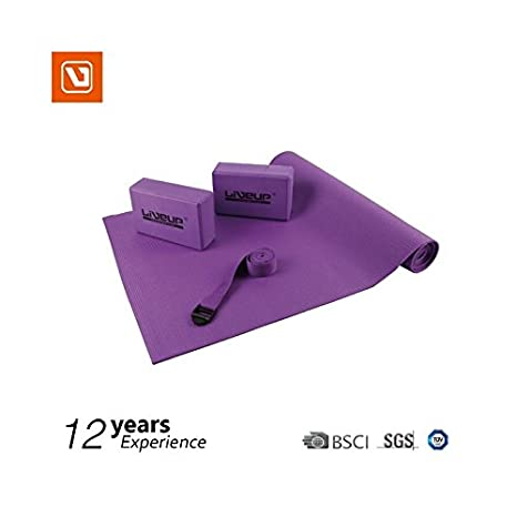 LiveUP Sports - SET DE YOGA - Bloques de bloque de tapete ...