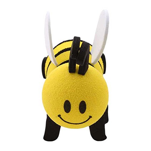 UNKEI Lovely Honeybee Bee Queen Car Antenna Topper Universal Automobile Antenna Foam Ball Decorations,1#