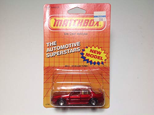 1987 Matchbox The Automotive Superstars Saab 9000 Turbo Red MB15 Made in Macau ()