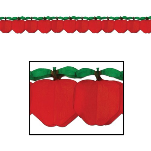 Tissue Apple Garland Party Accessory