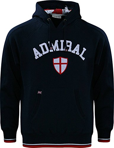 Admiral 100's Collection British Hoodie, Navy, Adult Small