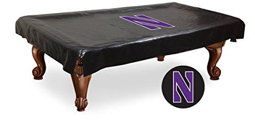 (Holland Bar Stool Co. Northwestern Wildcats HBS Black Vinyl Billiard Pool Table Cover (98