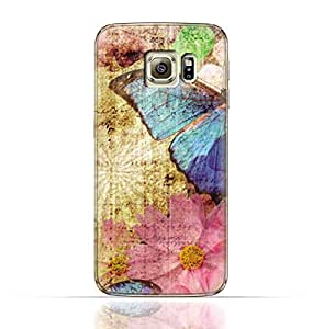 Samsung Galaxy S6 Edge Plus TPU Silicone Case with Vintage Butterfly Pattern