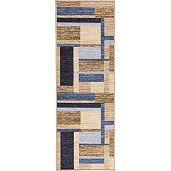 Boarders Rugs Anti-Bacterial Rubber Backed Non-Skid/Slip Runner Rug (20
