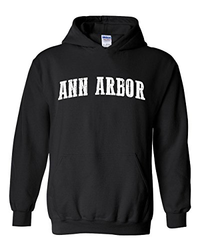 Ann Arbor MI Michigan Map Detroit Flag Wolverines Home Of University Of Unisex Hoodies - Ann Mi Shopping Arbor