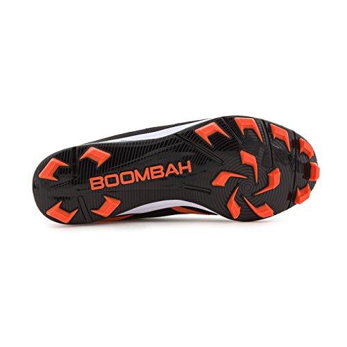 Boombah Womens A-game Modellato Metà Tacchetti - 8 Opzioni Di Colore - Più Dimensioni Nero / Arancione