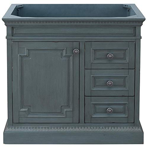 Home Decorators Collection Cailla 36 in. W x 21.50 in. D Bath Vanity Cabinet Only in Distressed Blue Fog