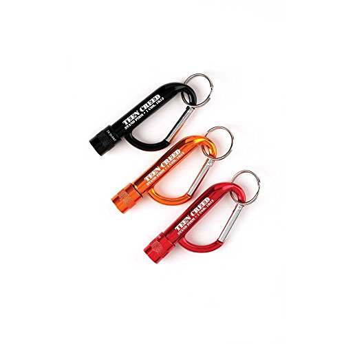 3 Pc Set Teen Creed 1 Cor. 16:13 LED Flashlight Christian Carabiner Clip Key Chains ()