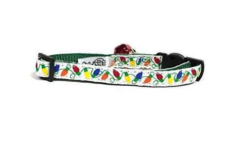 Picture of Midlee Christmas Lights Cat Collar Set with Safety Buckle