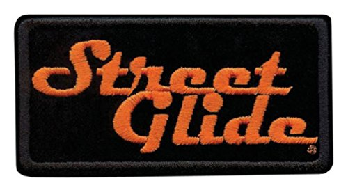 Harley-Davidson Embroidered Street Glide Emblem Patch, Small 4 x 2 in. EM647062