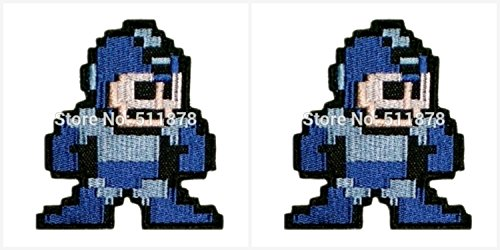 Application Megaman Theme Cosplay Applique Patch Great Gift for Parties, Decoration. Or Collecting! J&C Family Owned Brand 2-Pack Gift (Megaman Cosplay Costume)