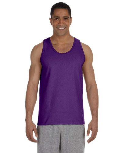 Gildan 2200- Classic Fit Adult Tank Top Ultra Cotton - First Quality - Purple - Large