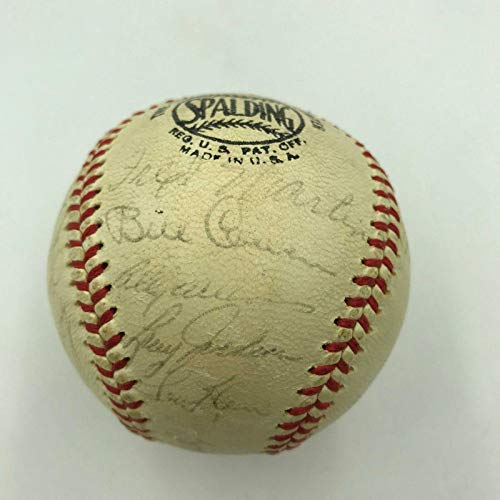 1964 Chicago Cubs Team Signed National League Baseball Ernie Banks Santo Brock - Autographed Baseballs