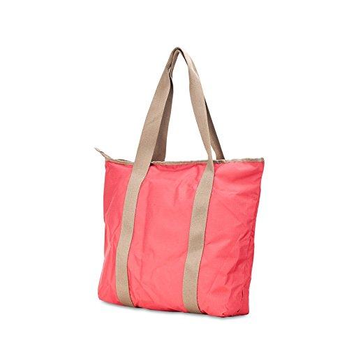 Barbie Bolso bandolera y baguette elegante de estilo chicas bolso casual con cartela pequeño para mujer BBFB573 35x37x10CM Rojo