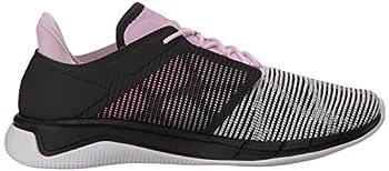 Reebok Women's Fast Flexweave Running Shoe, Coalwhitemoonglowacid Pink, 8.5 M Us 5