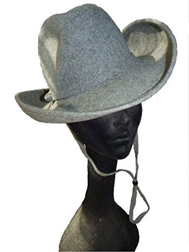 Style Of Individuality Gray Wool Fedora With A Western Flair by Style Of Individuality