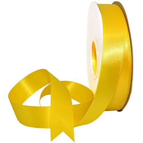 Daffodil Ornament - Morex Ribbon 088 Double Face Satin Ribbon, 7/8 Inch by 50 Yards, Daffodil