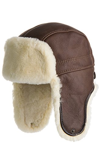Overland Sheepskin Co Shearling Sheepskin Trapper Hat by Overland Sheepskin Co
