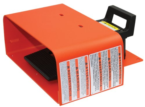 Linemaster 592-EX Explosion Proof Foot Switch, Electrical, Single Pedal, Momentary, Full Aluminum Guard, Orange