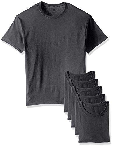 (Hanes Men's Ecosmart T-Shirt (Pack of 6), Smoke Gray, Large)