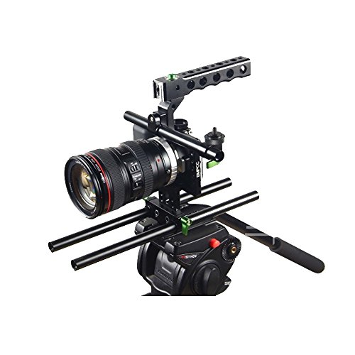 Lanparte BMPCC-01 Black Magic Pocket Cinema Camera Rig with Handle C-arm Baseplate by LanParte