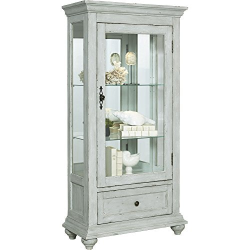 - Pulaski P020025 Traditional Antique 2 Shelves Curio Display Cabinet with LED Light, 30