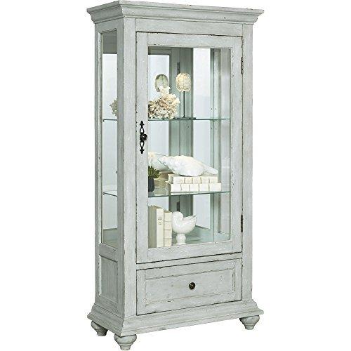 - Pulaski  Traditional Antique 2 Shelves Curio Display Cabinet with Led Light, 30