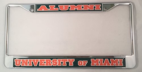 - University of Miami Alumni License Plate Frame