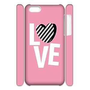 JCCFAN Love Pink 1 Phone 3D Case For Iphone 5C [Pattern-2]