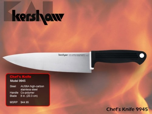 Chef's Knife 8″ (Bulk) – Kershaw Knives 9945, Knives Kitchen/Chef, Outdoor Stuffs