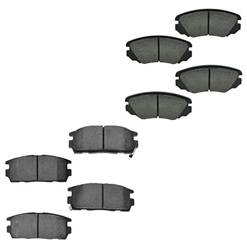 Ceramic Brake Pad Front Rear Kit for Chevy Equinox GMC Terrain