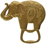 60 Kate Aspen Antique Gold Finish Metal Lucky Golden Elephant Shaped Bottle Cap Opener Wedding Thank-you Gifts Bridal Shower Party Souvenir Favors