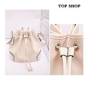 Top Shop Womens Bucket Rope Barrel Totes Shoulder Messenger Bags Handbags White Hobos