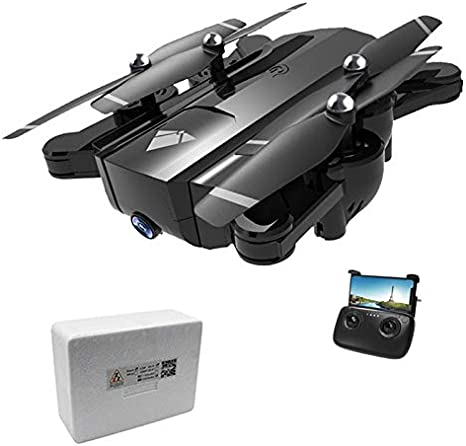 LCDYAvión Seguidor con Zoom De 60X, Dron Ultra Claro 720P22 Minutos Cámara Doble De Flujo Óptico Plegable, Estructura De Vuelo De La Ciudad Y Regalos, Caja De Color Manual + Portátil