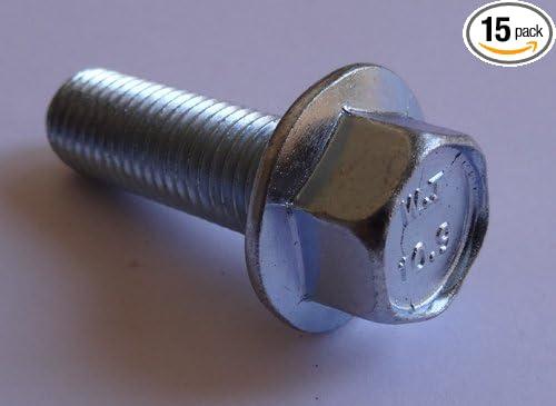 15 M10-1.25 x 30mm JIS Hex Head Flange Bolt Small Head Class 10.9 Zinc