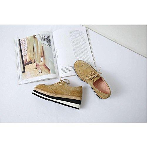 Chaussures Style à Chaussures Romain Femme Décontractées KJJDE yellow A1118 Minimaliste en WSXY Plateformes rqrRaTUWwg