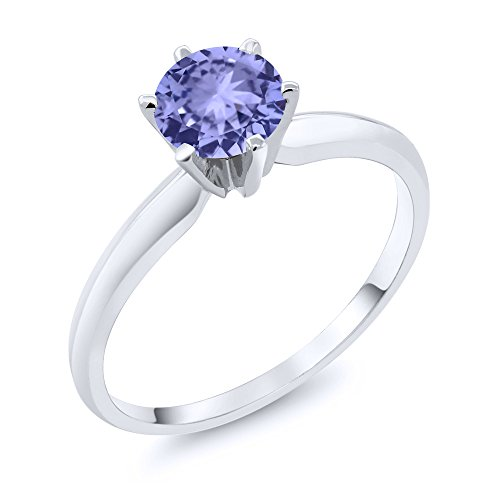 Gem Stone King 14K White Gold Blue Tanzanite Engagement for sale  Delivered anywhere in USA