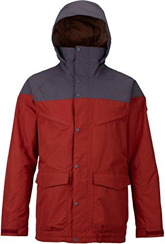 Burton Men's Breach Jacket, Fired Brick/Faded, - Taffeta Pouch