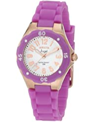 Invicta Womens 1623 Angel White Dial Lavender Silicone Watch