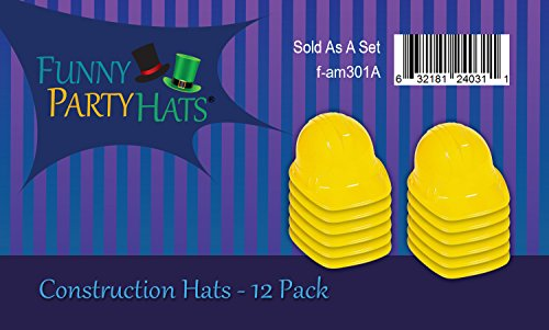 Yellow Construction Hat For Adults 12 Plastic Hard Hats By Import It All