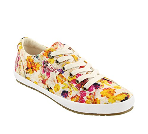 Taos Footwear Women's Star White Sneaker Floral Multi Sneaker 7 M US]()