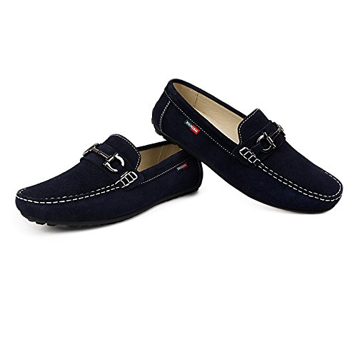 Guida in Penny Suola morbida uomo gomma Mocassini shoes Boat Mocassini metallo Nero in Slip on Xiazhi da con decorazioni Ew01qxxa
