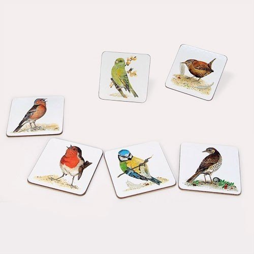 Roy Kirkham Garden Birds Coaster (Set of 6) ()