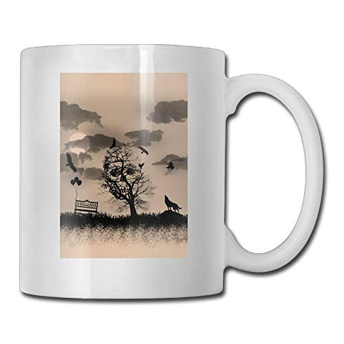 Tattoo Wolf Skull Personality Fashion Coffee Tea Mug the perfect gift for family and friends , coffee cup 11oZ