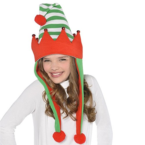 Fun-Filled Christmas and Holiday Party Elf Laplander , Green/Red, Fleece , 30