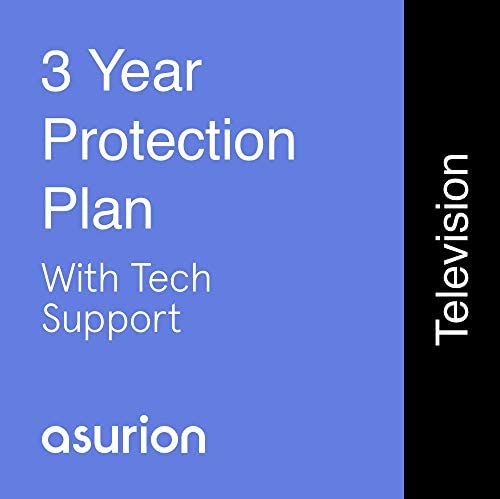 ASURION 3 Year Television Protection Plan with Tech Support $1000-1249.99