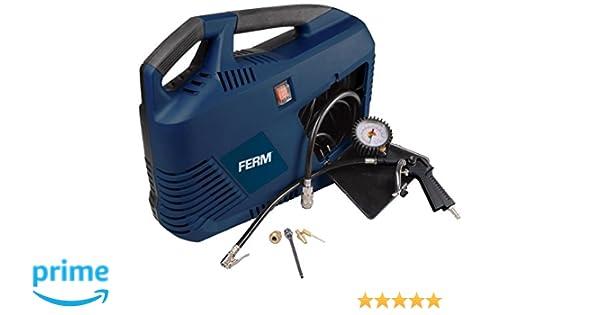 Ferm CRM1049 Compressor portátil (1100 W, 6,4 kg), 230 V, Set de 8 Piezas: Amazon.es: Bricolaje y herramientas